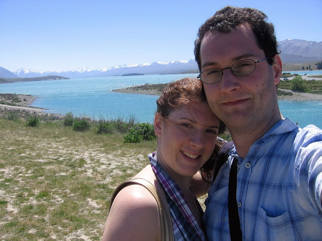 Me and my husband at Lake Pukaki New Zealand South Island