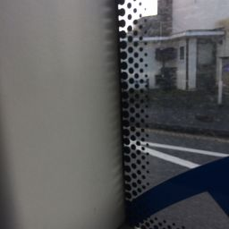Frit on a bus window