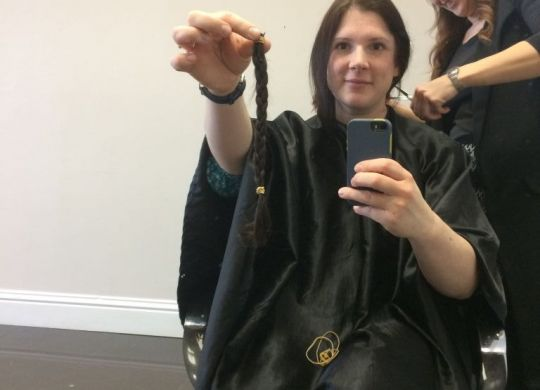 My hair donation in a plait