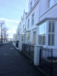 Regency houses in Leamington Spa