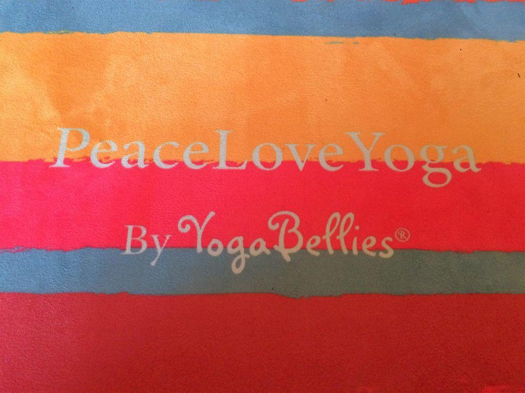 Peace Love Yoga by YogaBellies yoga mat