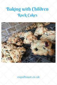 Baking with children, rock cakes