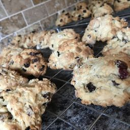 Rock cakes on wire cooling rack