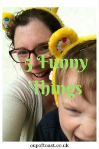 Five funny things Pinterest cover