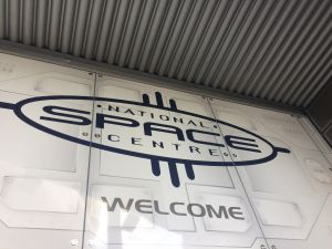 National Space Centre welcome sign