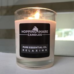 Hopping Hare Candle