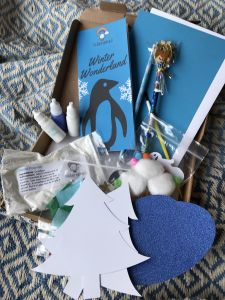 Winter Wonderland Squidgydoodle craft box
