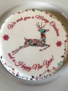 bakerdays Christmas reindeer cake