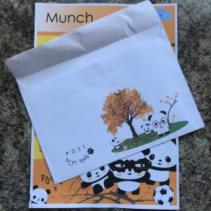 Letter and envelope from Panda Post