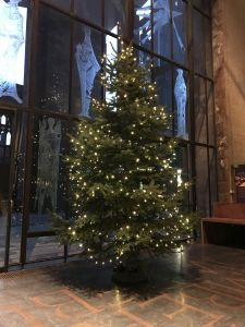 Christmas tree in Coventry Cathedral