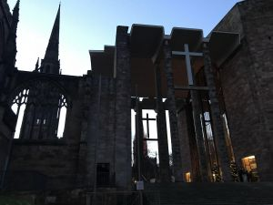 Coventry Cathedral at dusk
