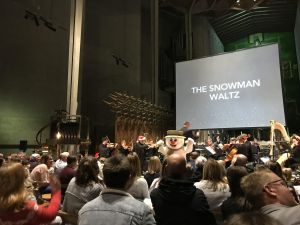 The Snowman Waltz with snowman character