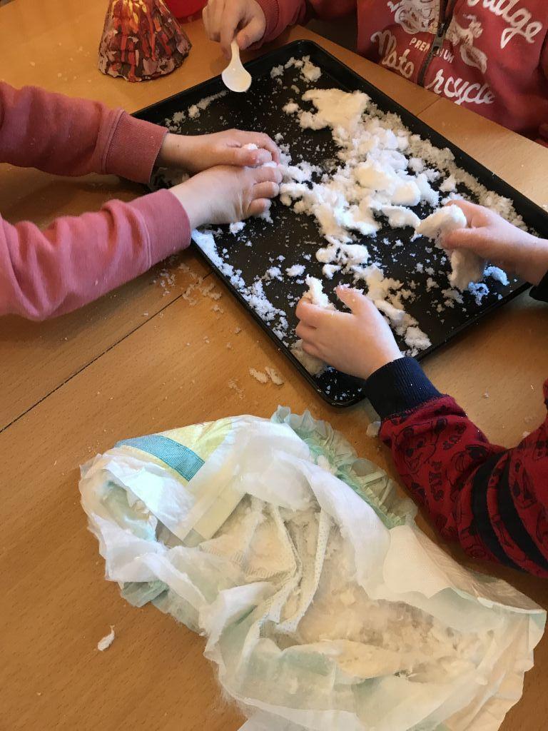 Making fake snow
