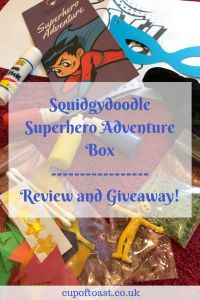 Squidgydoodle Superhero Adventure Box Review and Giveaway!