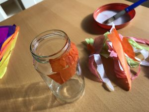 Tissue paper on jar