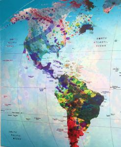 World Map The Americas