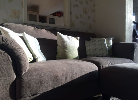 Light on sofa