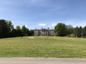 Ragley Hall, Warwickshire, bathed in sunshine.