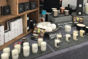 Hopping Hare Candles stall