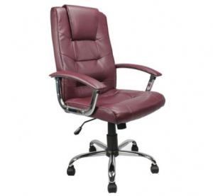 Red Burgundy Office Chair