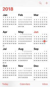 Annual online calendar