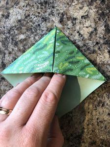 Finished origami bookmark