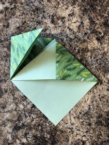 Folding the corners under