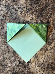 Making an origami bookmark