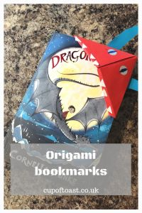 Making origami bookmarks with Cup of Toast blog