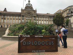 Dippy on tour in Birmingham