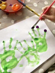 Hand art painting