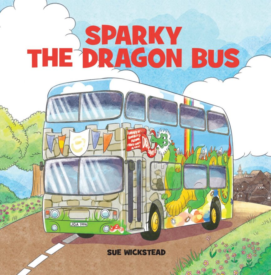 Sparky the Dragon Bus Front Cover
