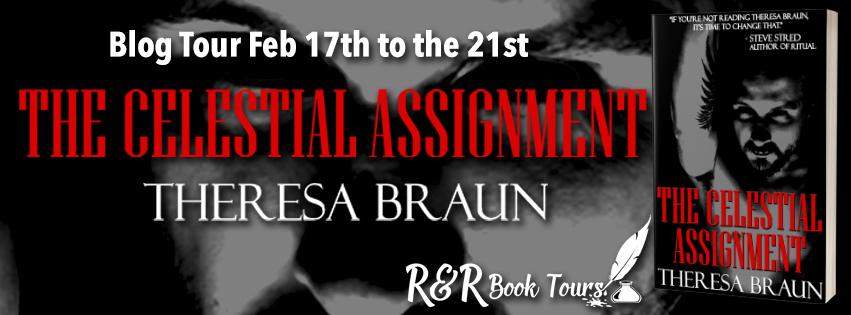 The Celestial Assignment blog tour banner