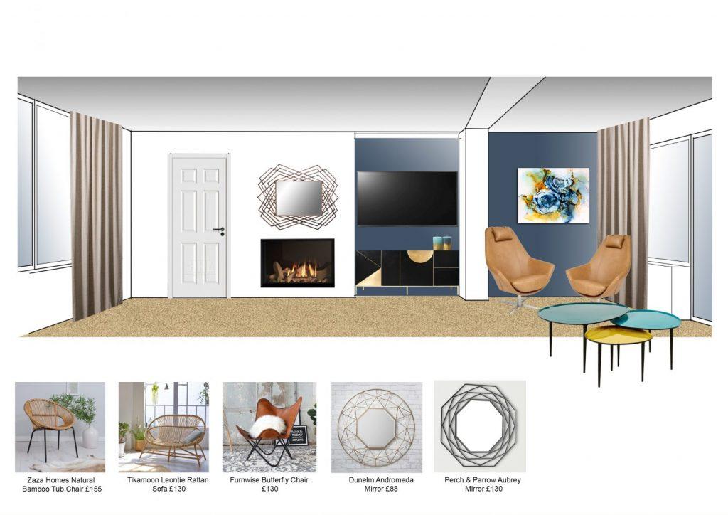 Living Room elevation Silvia Boev