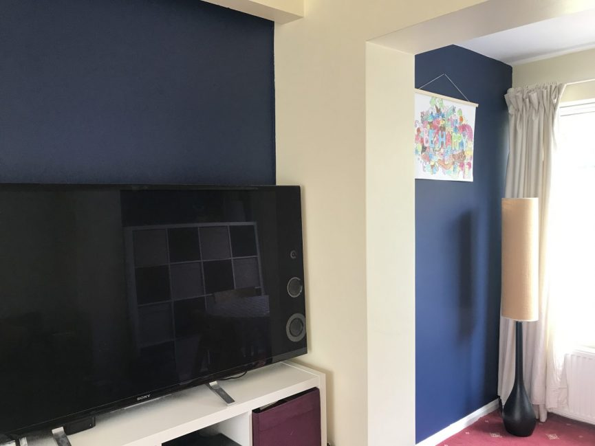 Living room painted