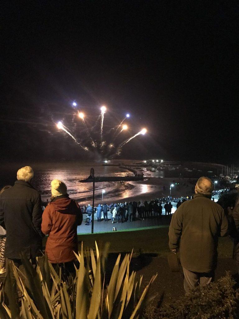 Fireworks over The Cobb, Lyme Regis, Dorset