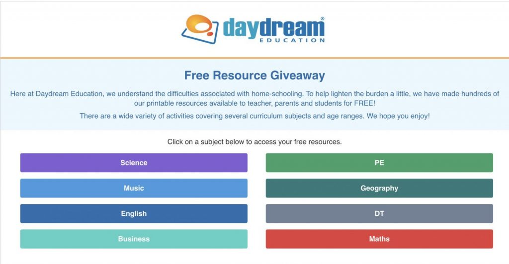Daydream Educational Resources