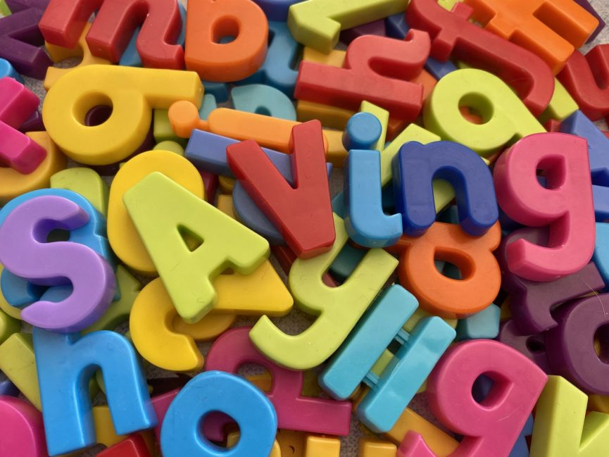 Saving spelt out in magnetic letters